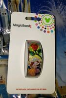 Disney STAINED GLASS BEAUTY & THE BEAST RED Magic Band 2.0 Magicband Belle