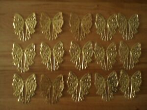 15 x Die Cut Bows cut from Gold Foiled Card Stock