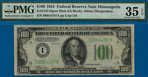 FR-2152-Idgsm - 1934 $100 FRN (( POP 1/2 - Minneapolis )) PMG 35EPQ # 814787A-
