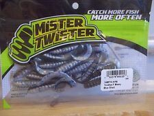 "Mr Twister 3"" Tri-Alive Meeny Blue Shad 15/pack"