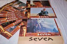 SEVEN ! David Fincher  brad pitt jeu 12 photos cinema lobby cards fantastique