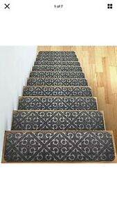 Carpet Stair Treads Set of 13 Non Slip/Skid Rubber Runner Mats or Rug Tread – In