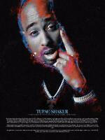 TUPAC SHAKUR 24x36 poster EYES ON ME BROKEN WINGS HIP HOP RAP MUSIC GANGSTER NEW