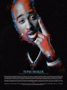 24x36 Poster 2PAC Classic Rap HipHop Music Singer Star VIRE Ablum Cover T-1479