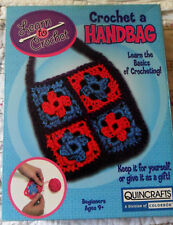 Quincrafts, Learn The Basics of Crocheting - Crochet a Handbag Kit, Beginners 9+