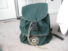 Vintage KIPLING Green Backpack with Large Logo - Great Condition