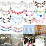 3.2m 12 Flag Pennant Vintage Bunting Banner Wedding Party Hanging Decor Ceremony