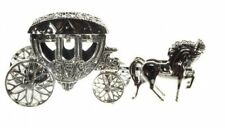 *Mini Kutsche zum Öffnen und Befüllen*Geldgeschenk*Silber Hochzeit*Dekoration