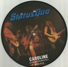 Status Quo - Caroline (Live At The NEC) 1982 7 inch vinyl picture disc single