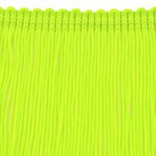 """17"""" Long Limeade Shiny Nylon High Density Chainette Fringe Trim"""