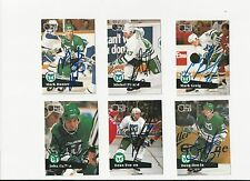 91/92 Pro Set Autographed Hockey Card Mark Picard Hartford Whalers