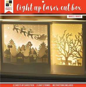 Dcwv Holiday Project Stack-Laser-Cut Light Up Box - Makes 3