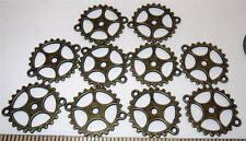 "1"" Gears 10 Pieces Lot New Steampunk Watch Parts Antiqued Brass Color Cogs Wheel"