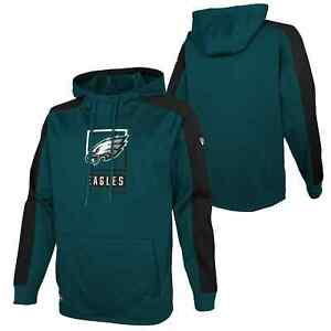 Philadelphia Eagles New Era Team Rise Better Pullover Performance Hoodie - Green