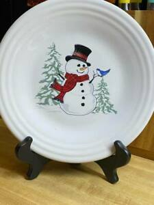 "Fiesta Snowman 9"" Luncheon Plate"