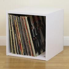White Square LP/Vinyl Music Record Storage Cube/Cabinet Box Home Display Unit
