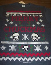 CHUCK NORRIS Merry Chuckmas CHRISTMAS SWEATER STYLE T-Shirt SMALL NEW w/ TAG