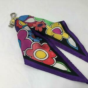 Brighton LOVE GROOVE FLOWER   scarf handbag charm key fob  NWT $40  MULTI