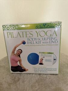 Pilates And Yoga Body Sculpting Exercise Ball Open new in Box -dvd