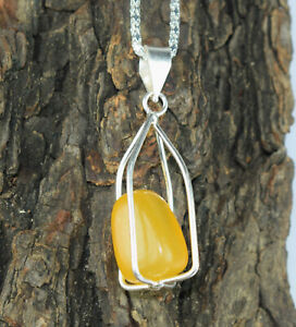 AAA Quality 35.45 Ct Yellow Sapphire Fancy Cabochon Natural Gems Silver Pendant