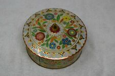 Vintage Tin Container With Lid, Floral, UK