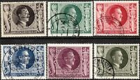 Stamp Germany Mi 844-9 Sc B231-6 1943 WWII 3rd Reich Hitler Birthday Hitler Used