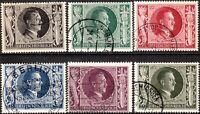Stamp Germany Mi 844-9 Sc B231-6 1943 WWII 3rd Reich Hitler Birthday Hitler Used