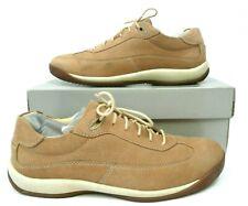 Rockport Womens 7.5 Wide Walking Shoes Beech Tree Toast Tan Nubuck Leather EUC