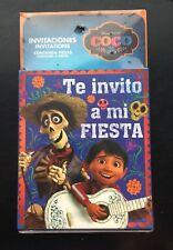 Coco Disney party invitations 6 pieces Spanish