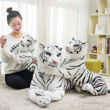 New Giant White South China Tiger Stuffed Animal Plush Bengal Soft Toy Doll Gift