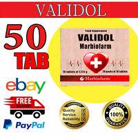Validol 30MG, 50 tabs (5 blistersX10 tabs), ANTI STRESS, CALMING TABS.