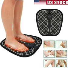 Electric EMS Foot Massager ABS Physiotherapy Heated Pad Tens Vibrator Relax US