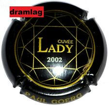 Capsule de Champagne :  Extra !!!  GOERG Paul , cuvée Lady 2002 , n°21