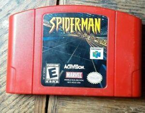 Spider-Man (Nintendo 64, 2000) VG Shape  Authentic