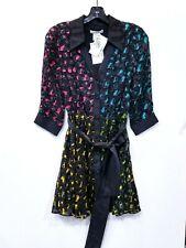 ALICE & OLIVIA Raja V-Neck Mini Shirt Dress
