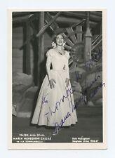 Maria CALLAS (Opera): Signed Photograph in La Sonnambula at La Scala (3)