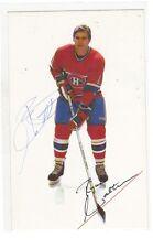1985 Montréal Canadiens Ryan Walter  signed photo postcard