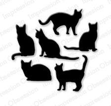 CAT SET DIE-Impression Obsession/IO Stamps (DIE083-K)-Kitten Silhouette Dies
