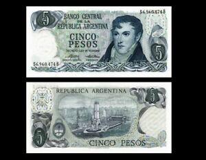 ARGENTINA 5 PESOS P 294 1976 UNC