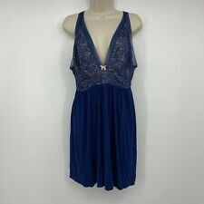 Cacique Night Gown Blue Lace Size 14/16