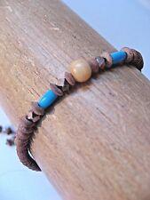Chan Luu Bracelet Women's Turquoise Earthy Native Mix Drawstring Friendship NeW