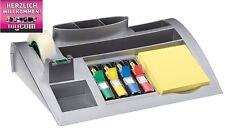 Post-it Tisch Schreibtisch Organizer C50 Silber 7 Fächer inkl Notes Tape NEU OVP