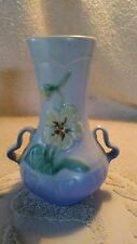 6-3/4 inch Tall 1935  Weller Art Panella Floral Vase Two Handle