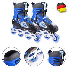 Kinder Inliner Skates verstellbar Größe 26-41 Inline Rollschuhe blinkende Blau