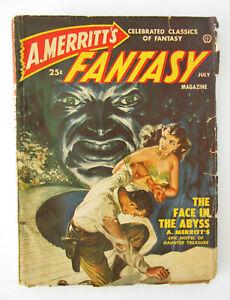 A. Merritt's Fantasy Magazine - PULP July 1950 - very good cond