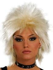 Blonde Punk Wig  Rocker Emo Mullet Goth 80'S Tina Turner Fancy Dress