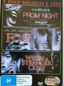DVD: 3 Disc Thriller/Horror Pack - Prom Night / The Fog / When A Starnger Calls