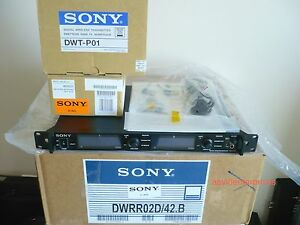 Demo Sony DWR-R02D wireless dual receiver + two DWT-P01 transmitters, CH42/50