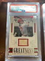 2018 Panini National Treasures Greatness Relics G-MT Mike Trout [PSA 9] #/99