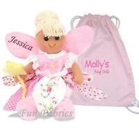 Personalised Large Rag Doll Christening Birthday Baby Christmas Fairy Gift + Bag
